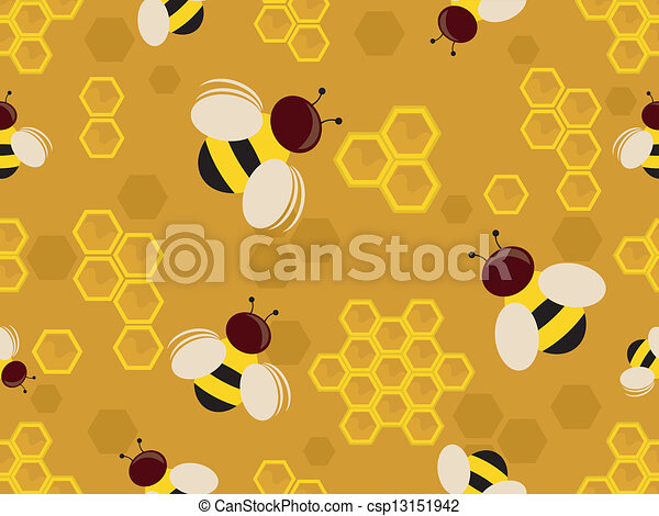 Bees Background - csp13151942