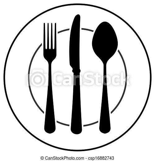 Black Cutlery Symbol - csp16882743