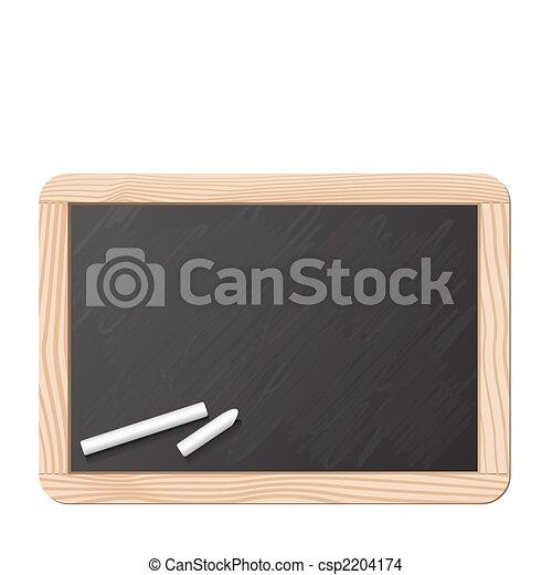 Blackboard and chalk - csp2204174