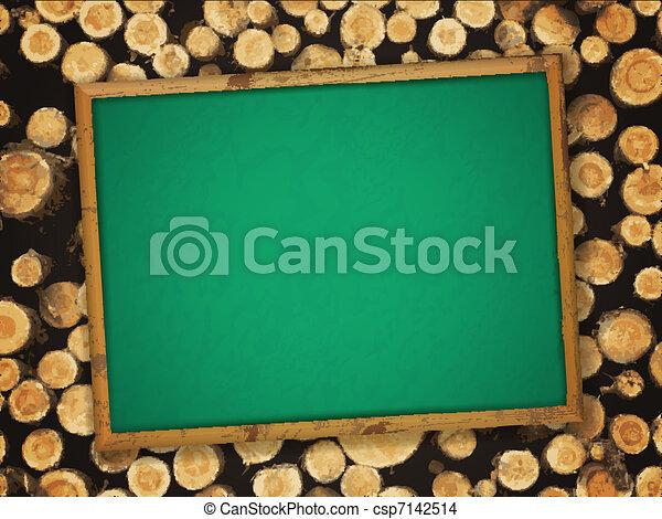 blackboard at lumber background - csp7142514