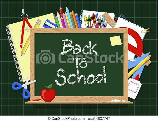 blackboard school supplies - csp14837747