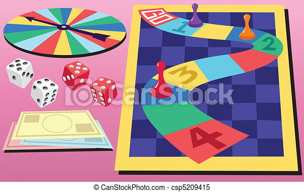 Board Game and Dice - csp5209415