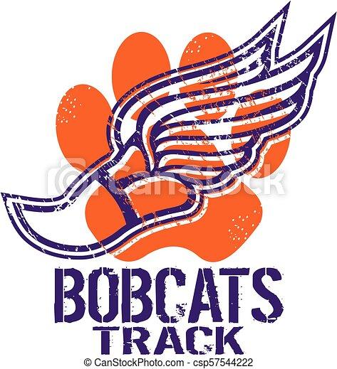 bobcats track - csp57544222