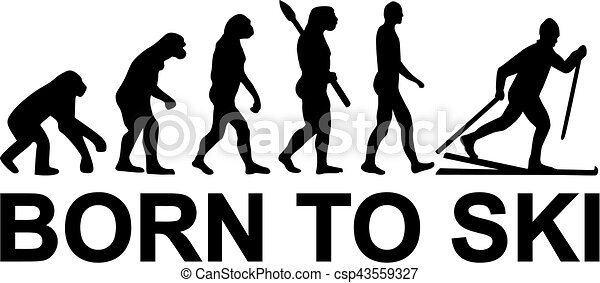 Born to cross country skiing evolution - csp43559327