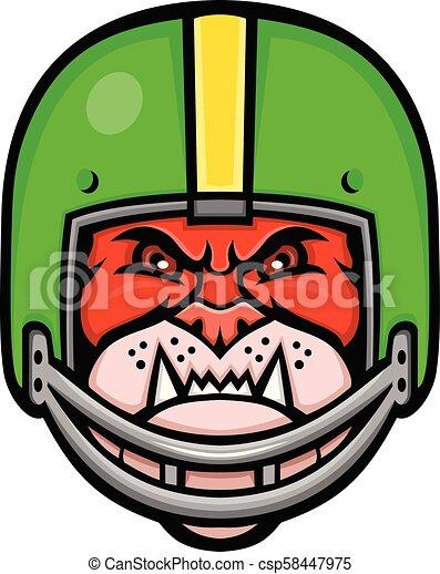 bulldog-american-football-helmet-frnt-MASCOT - csp58447975