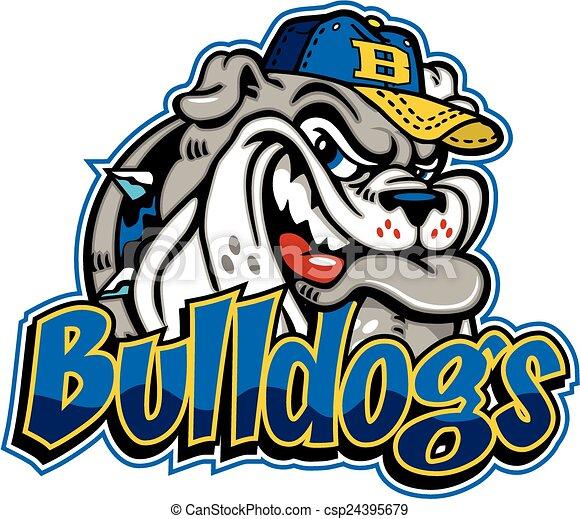 bulldog baseball mascot - csp24395679