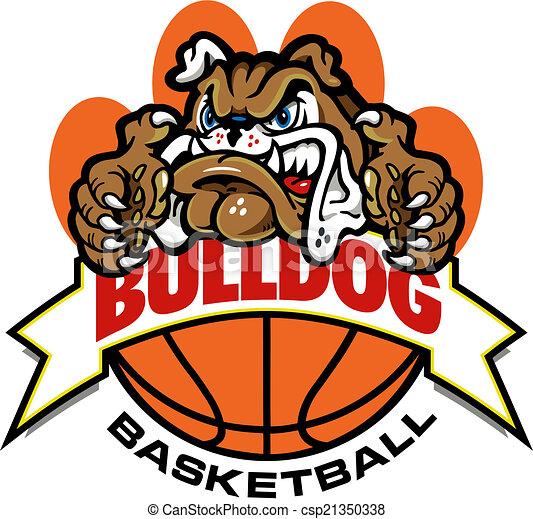bulldog basketball banner design - csp21350338