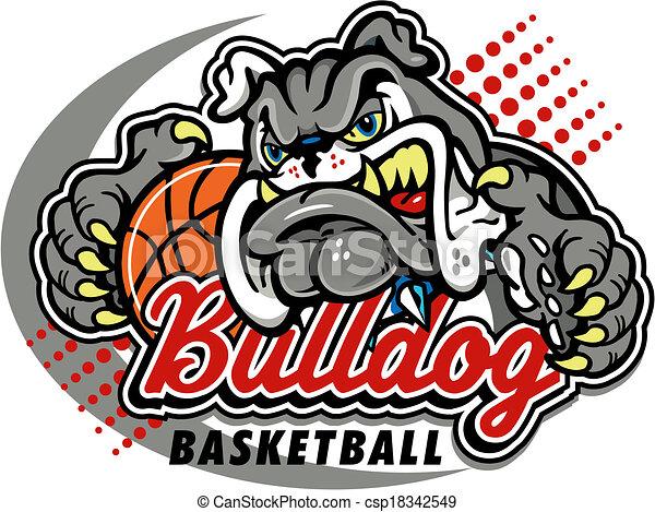 bulldog basketball design - csp18342549