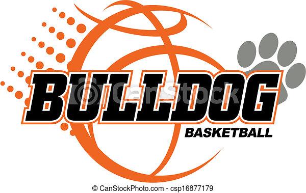 bulldog basketball design - csp16877179