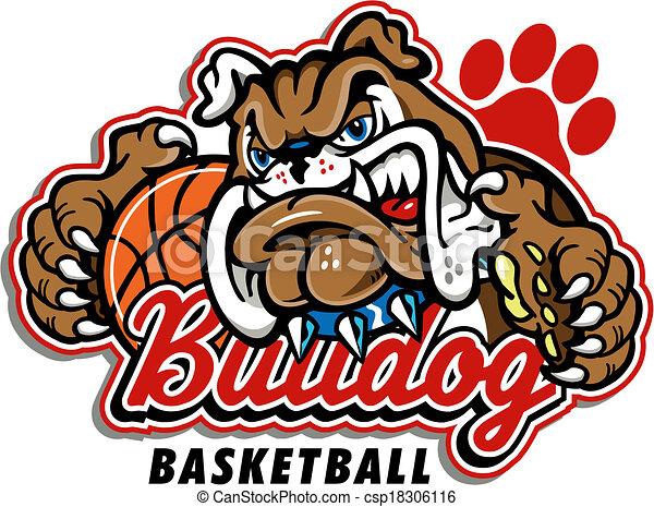 bulldog basketball design - csp18306116