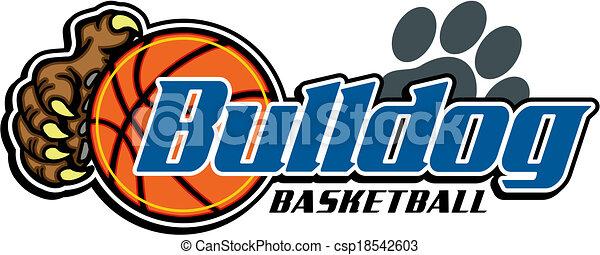 bulldog basketball design - csp18542603