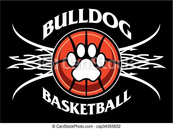 bulldog basketball - csp34355832