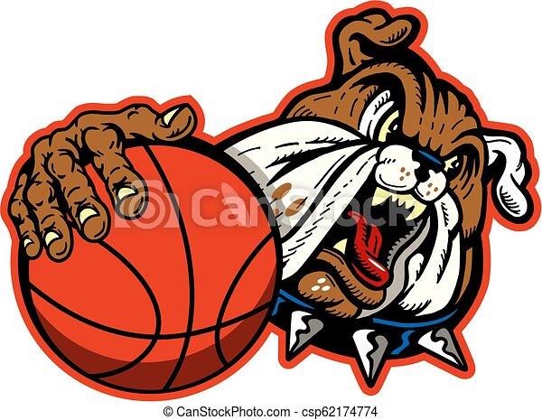 bulldog basketball - csp62174774