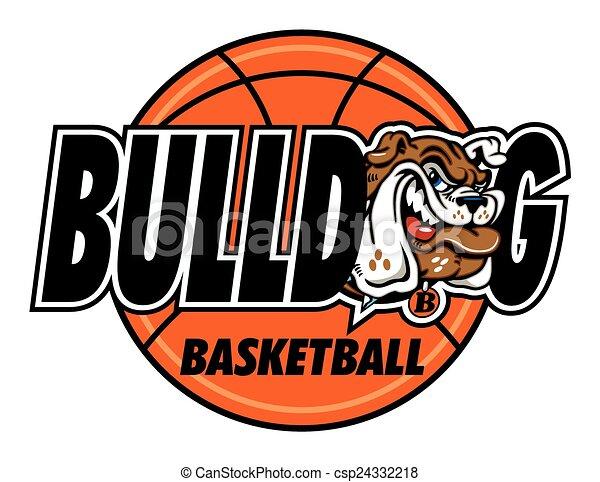 bulldog basketball - csp24332218