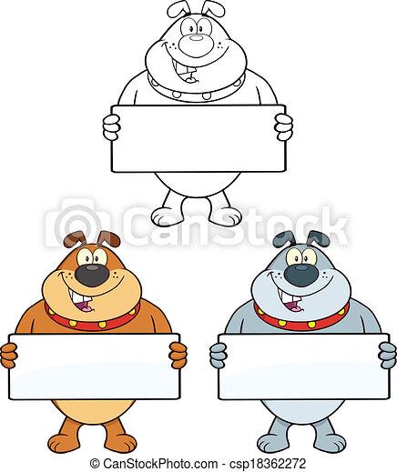 Bulldog Characters 2 Collection - csp18362272