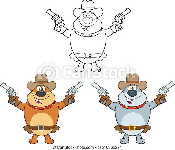 Bulldog Characters 3 Collection - csp18362271