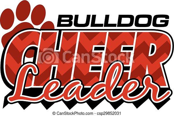 bulldog cheerleader - csp29852031