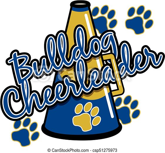 bulldog cheerleader - csp51275973