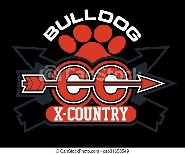 bulldog cross country - csp31658549
