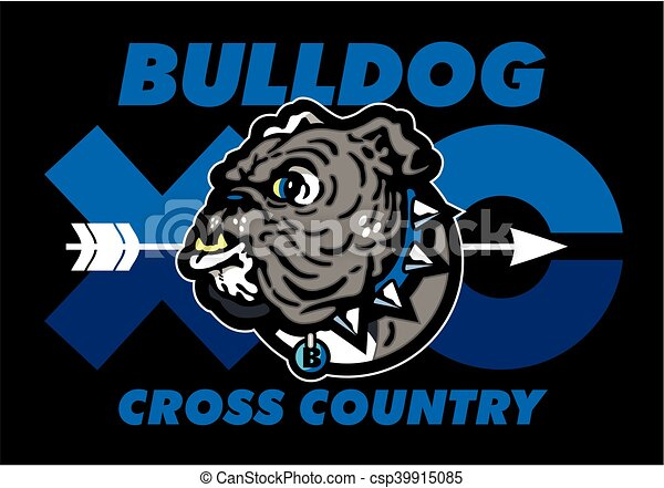 bulldog cross country - csp39915085