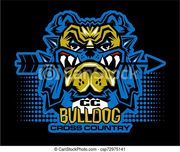 bulldog cross country - csp72975141