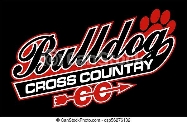 bulldog cross country - csp56276132