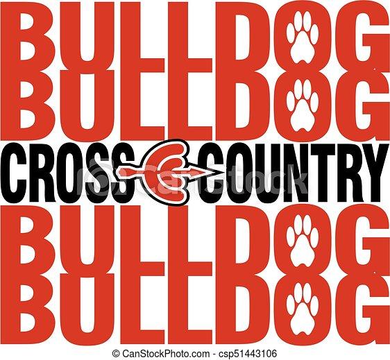 bulldog cross country - csp51443106