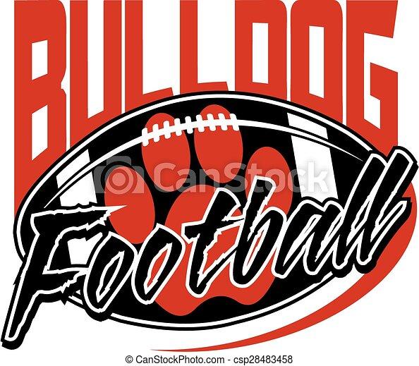 bulldog football - csp28483458