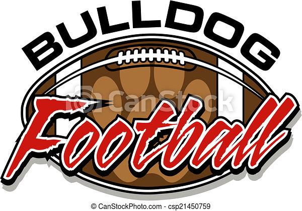 bulldog football design - csp21450759