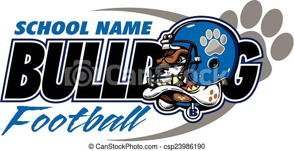 bulldog football - csp23986190