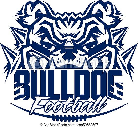 bulldog football - csp50869597