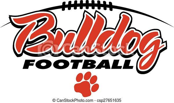 bulldog football - csp27651635