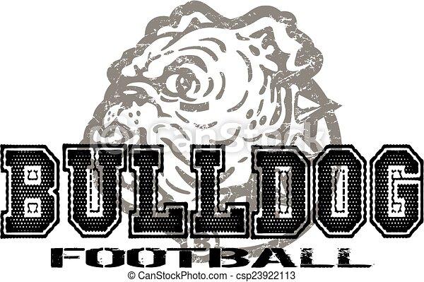 bulldog football - csp23922113