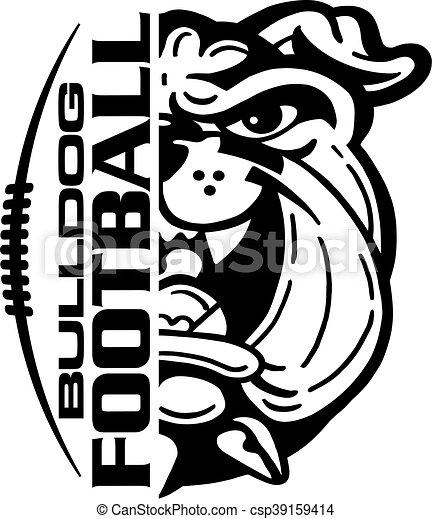 bulldog football - csp39159414