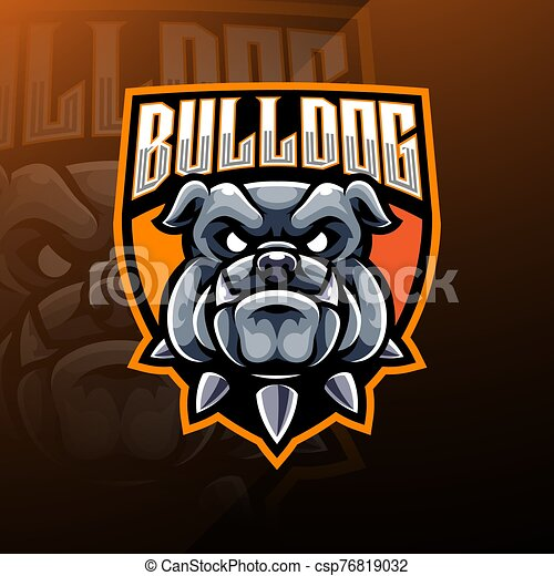 Bulldog Head esport Mascot Logo - csp76819032