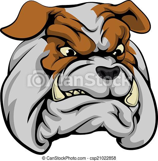 Bulldog mascot character - csp21022858