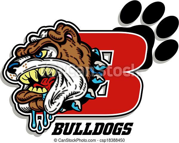bulldog mascot design - csp18388450