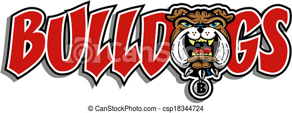 bulldog mascot design - csp18344724