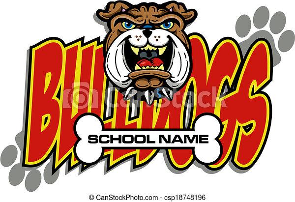bulldog mascot - csp18748196