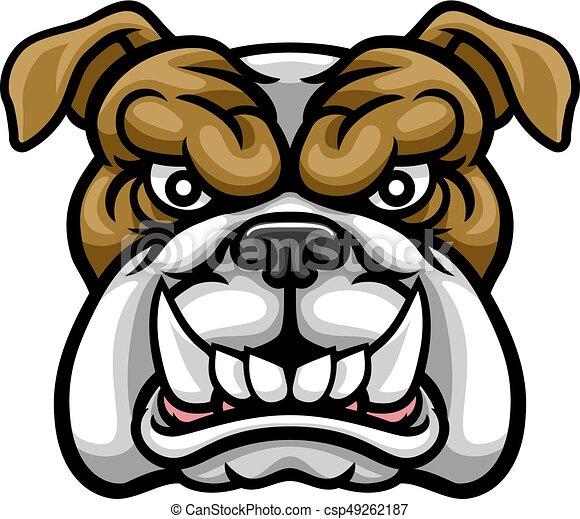 Bulldog Mean Sports Mascot - csp49262187