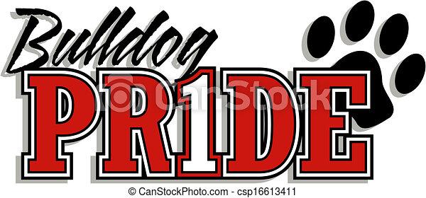 bulldog pride logo - csp16613411