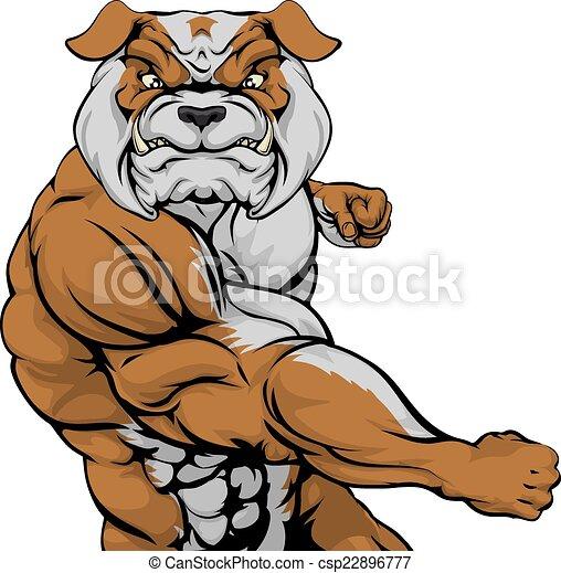 Bulldog Punching - csp22896777
