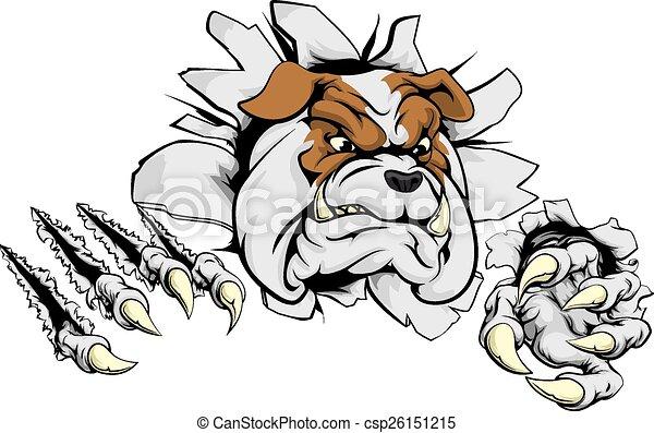 Bulldog ripping through background - csp26151215