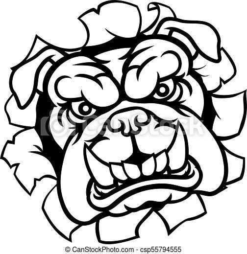 Bulldog Sports Mascot - csp55794555