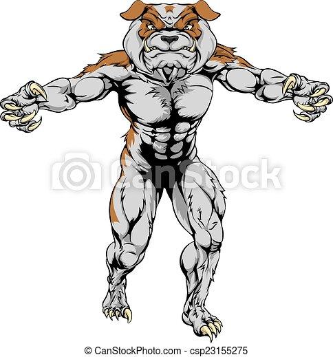 Bulldog sports mascot - csp23155275