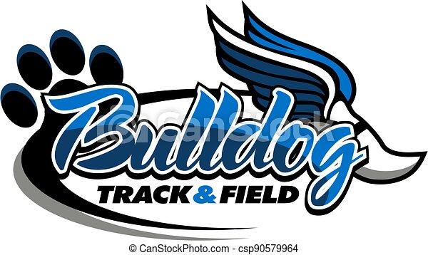 bulldog track and field - csp90579964