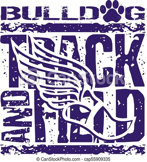 bulldog track and field - csp55909335