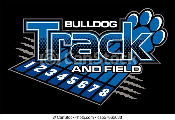 bulldog track and field - csp57662038