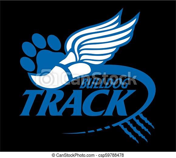 bulldog track - csp59788478