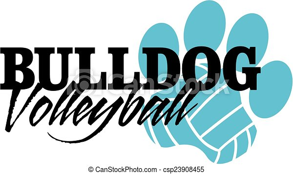 bulldog volleyball - csp23908455